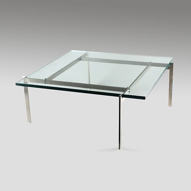 Poul Kjaerholm PK61 Coffee table with a glass top Furniture