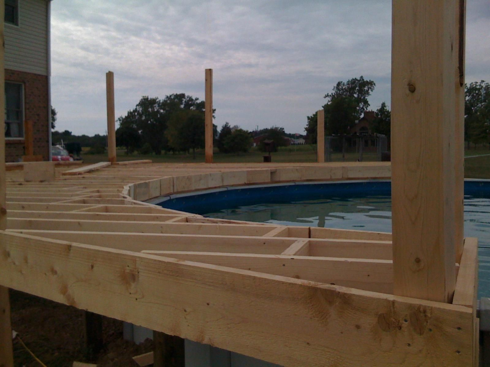 Square Above Ground Pool pool decks | pool deck 1200 square feet - construction picture