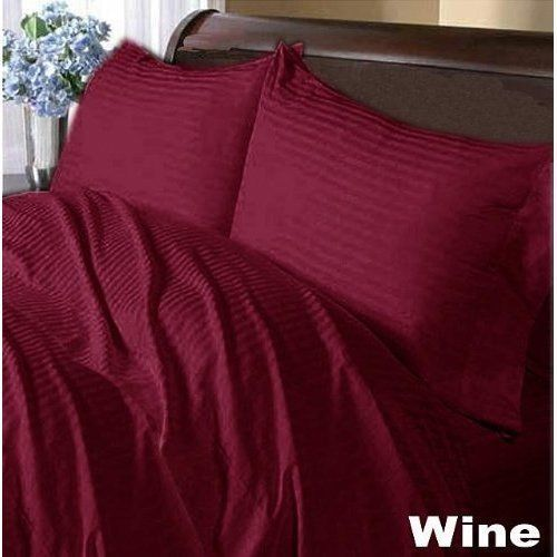 800 Thread Count Satin Silk UK Bedding Items Select Size Burgundy Solid
