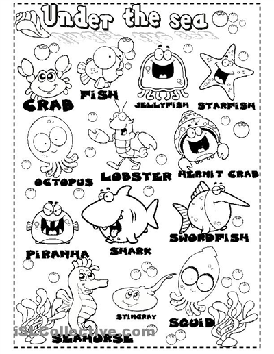 under the sea worksheets | sea animals worksheet - Free ESL ...