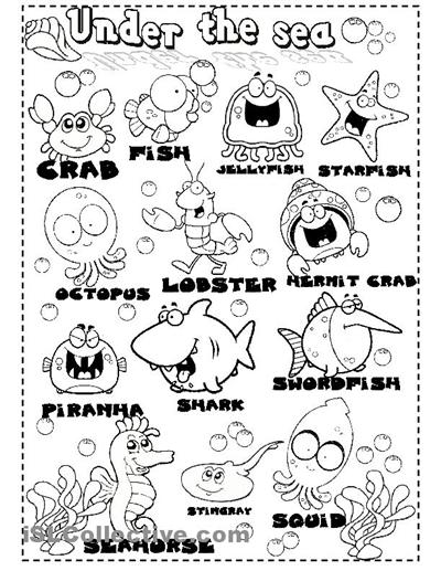 under the sea worksheets | sea animals worksheet - Free ESL printable worksheets made by teachers