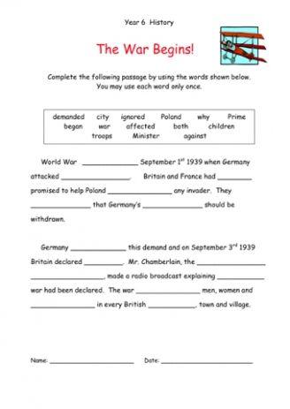 23+ 5th grade world war 2 worksheets Images