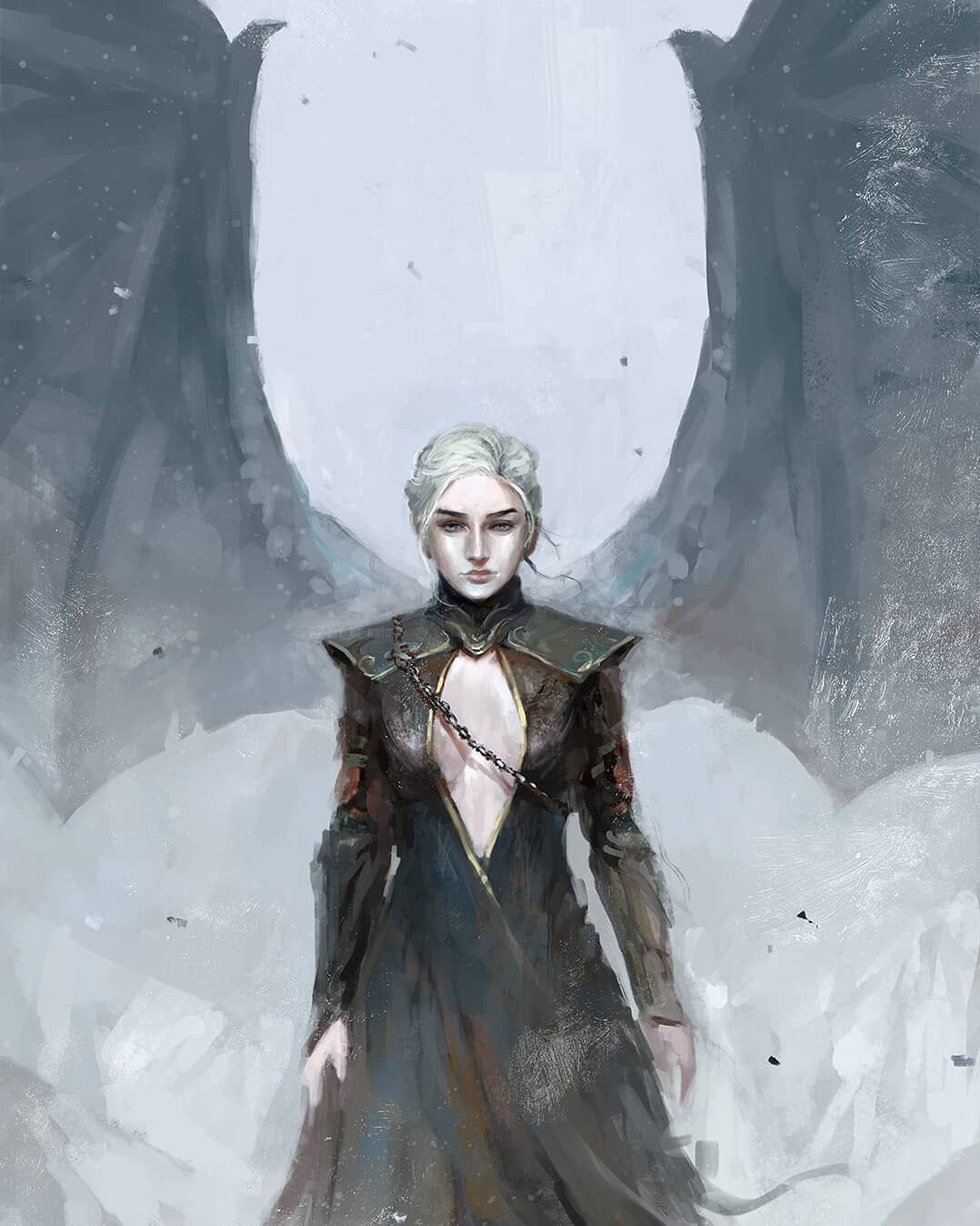 Game Of Thrones Fanart On Instagram Queen Of The Ashes By Art Of Nate Gameofthrones Daener Targaryen Art Daenerys Targaryen Art Game Of Thrones Art