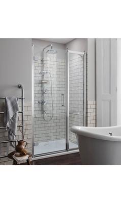 Burlington Traditional Hinged Shower Door Optional Side Panel Shower Doors Traditional Bathroom Shower Panels