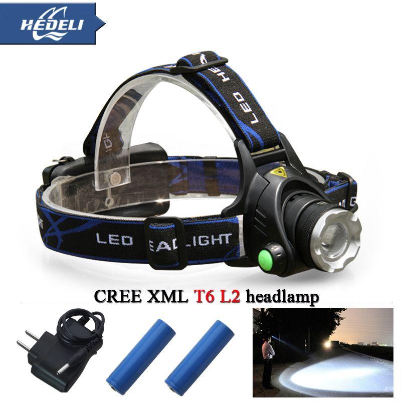 Xm L Xm L2 T6 Wodoodporna Zoom Cree Reflektor Led Reflektor Czolowka 18650 Akumulator Latarka Czolowka Swiatla Headlamp Portable Light Rechargeable Lantern