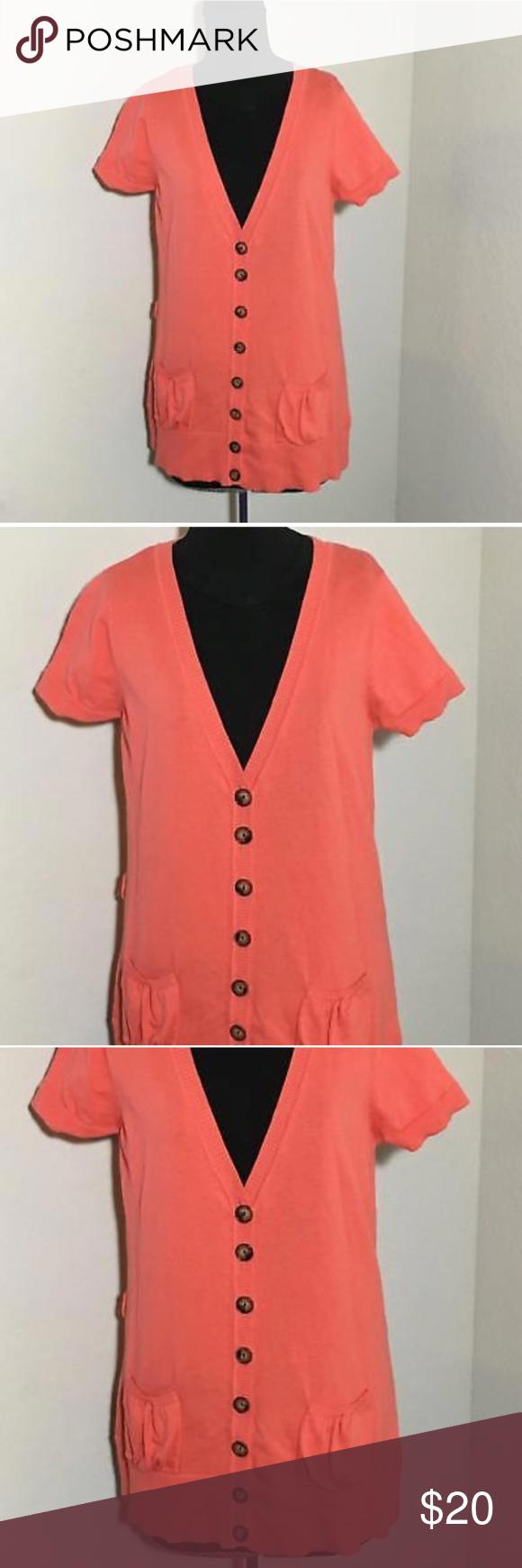 ALYX Cardigan Sweater Short Sleeve Coral Sz XL Women's ALYX coral ...