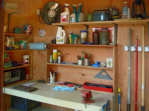 Garden Sheds Inside inside garden shed ideas - google search | the garage and shed