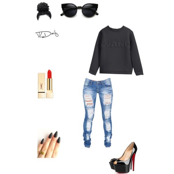 Untitled #55 by sneakerhead1500 on Polyvore featuring polyvore, fashion, style, Christian Louboutin and PUR