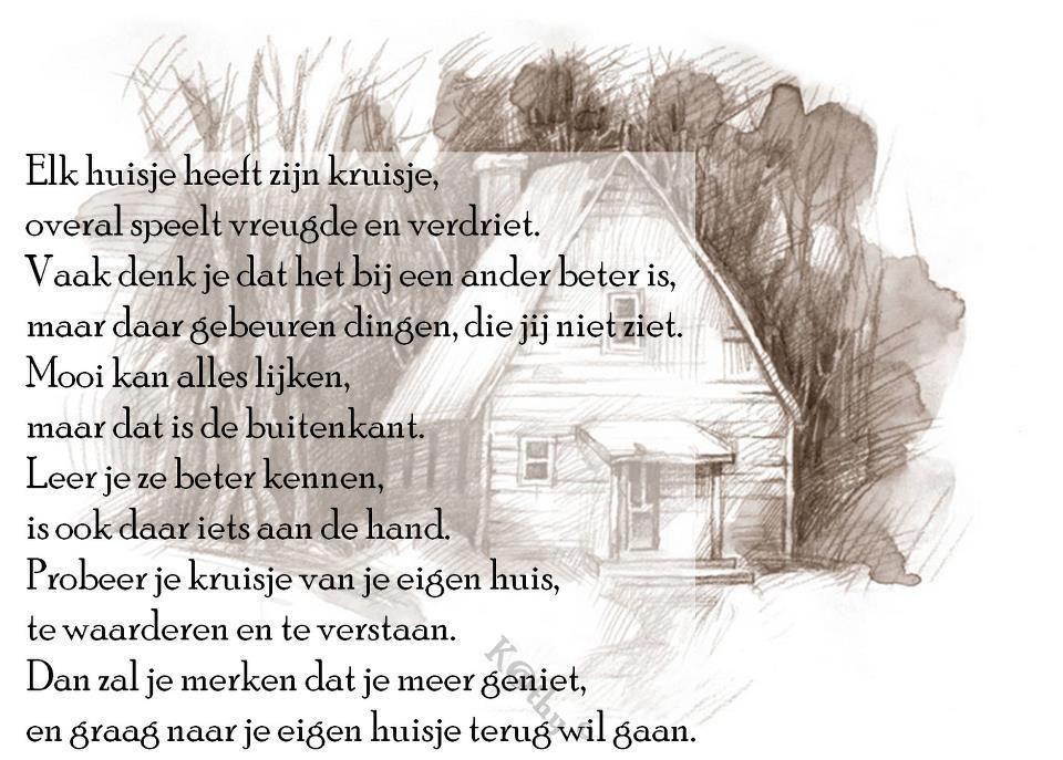 Citaten Jung : Gedicht ieder huisje heeft zijn kruisje mooie teksten
