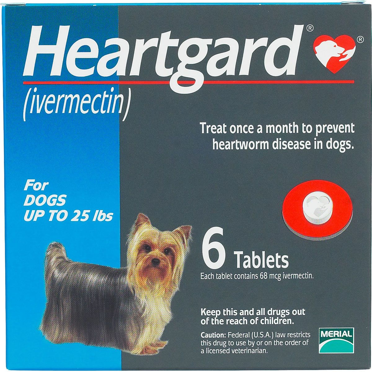 Heartgard Tablets for Dogs up to 25 lbs 6 ct Dogs
