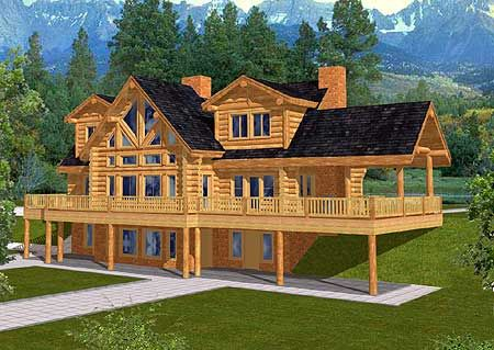 Plan 35121gh Spacious Log Home Plan In 2021 Log Home Plan Cute Minecraft Houses Easy Minecraft Houses