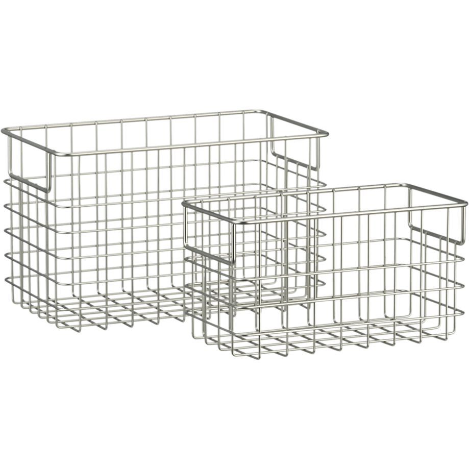 Large Wire Basket in Storage Baskets & Bins | Crate and Barrel ...
