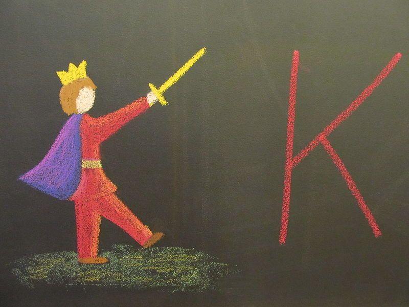 FileLetter K as King.JPG 1 grade waldorf Pinterest