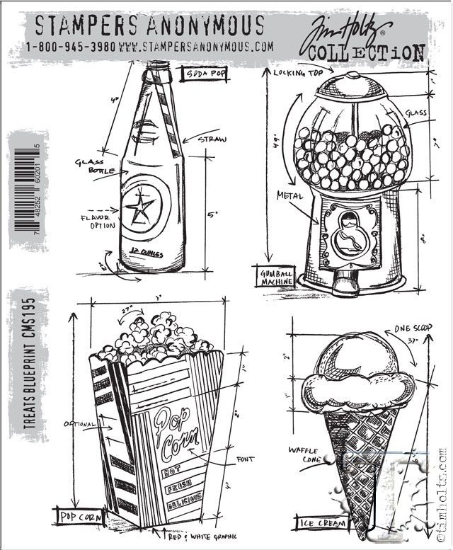 Tim Holtz new Stampers Anonymous Treats Blueprint Tim Holtz - new no blueprint meaning