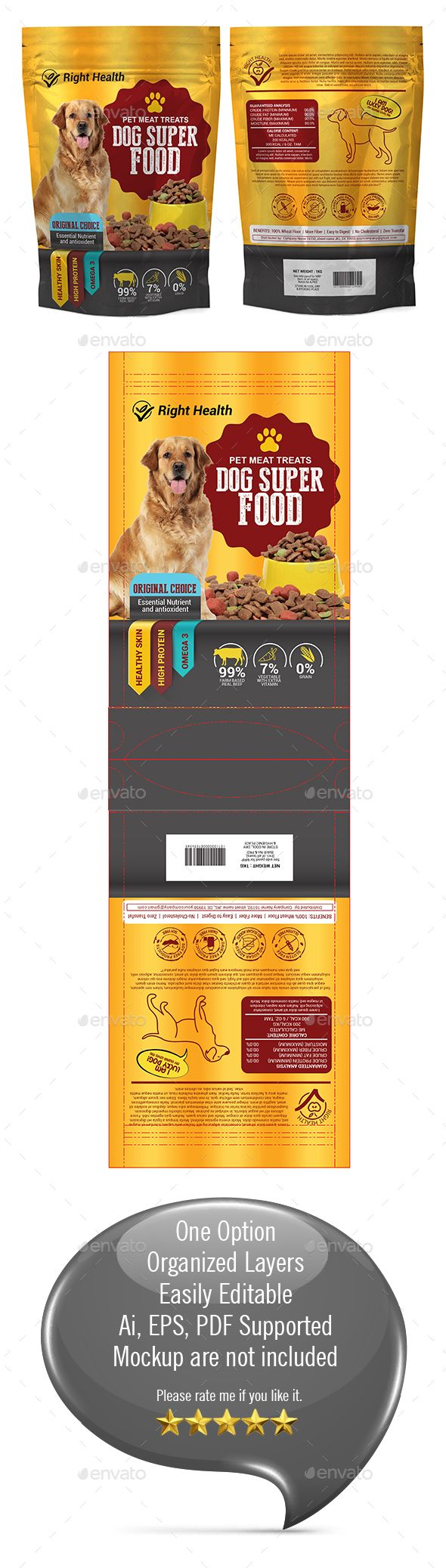 Download Dog Supplement Packaging Template 03 Packaging Template Dog Supplements Cat Supplement