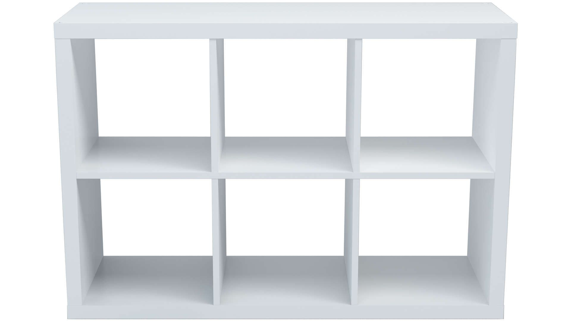 Bibliotheque 6 Cases Alvin Coloris Blanc Bibliotheque Blanche