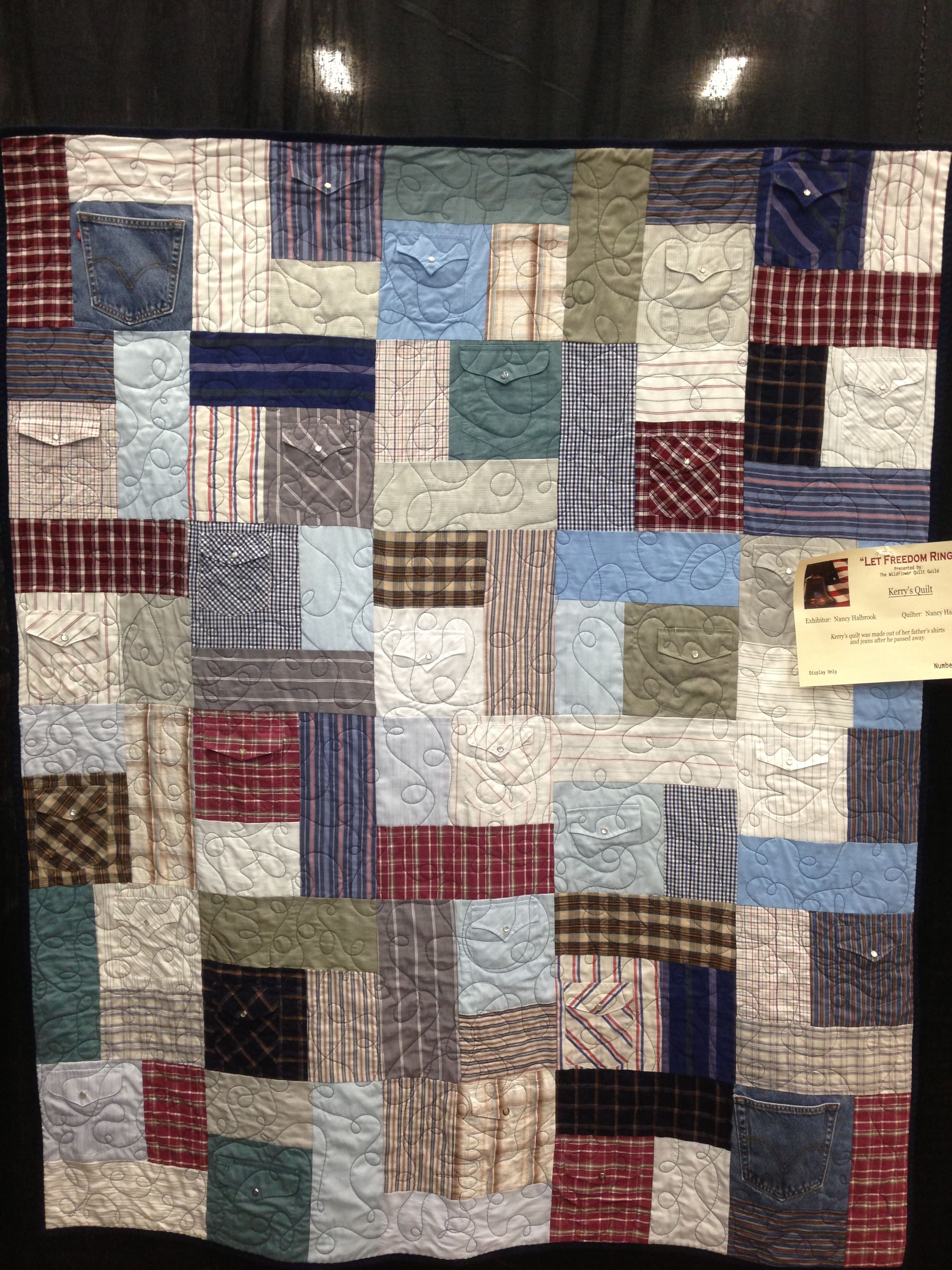 Memorial quilt from Tshirts, pajama pants and other memories ... : memorial quilt patterns - Adamdwight.com