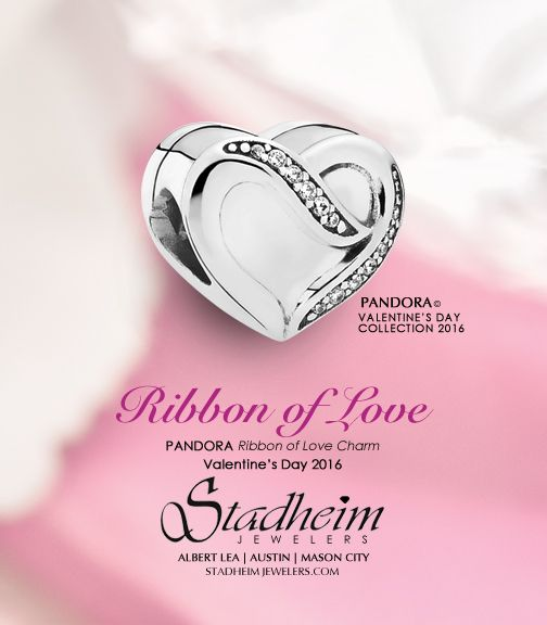 301586211 Ribbon of Love Charm - Pandora Valentine's Day Collection 2016 ...