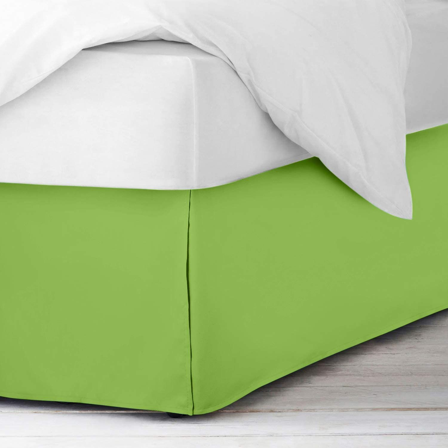 Sage Green Bed Skirt Solid Bliss 400tc In 2021 Green Bedding Bedskirt Best Thread Count Green bed skirt queen