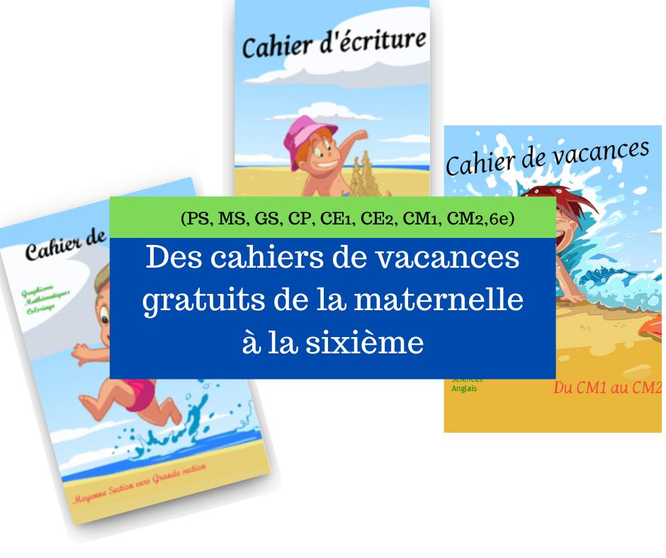 Les Editions Rosace Proposent En Telechargement Gratuit Au Format Pdf Des Cahiers De Vacances Un Cahier Cahier De Vacances Cm1 Cahier De Vacances Maternelle