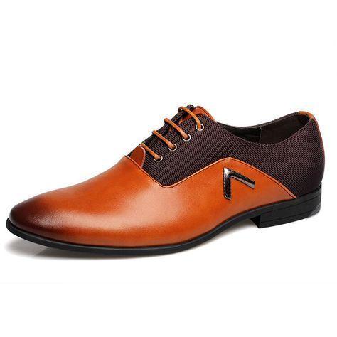 us size 65105 men business shoes leather comfortable