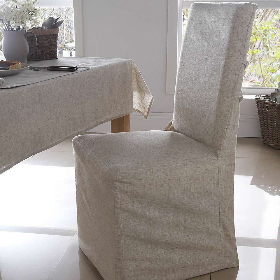 recliner chair covers dunelm grey leather dining chairs with chrome legs polylinen pack of 2 house