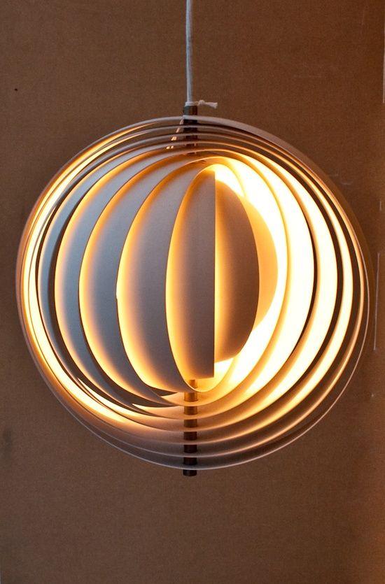 Verner Panton Moon lamp | Diy lighting, Lamp, Lamp design