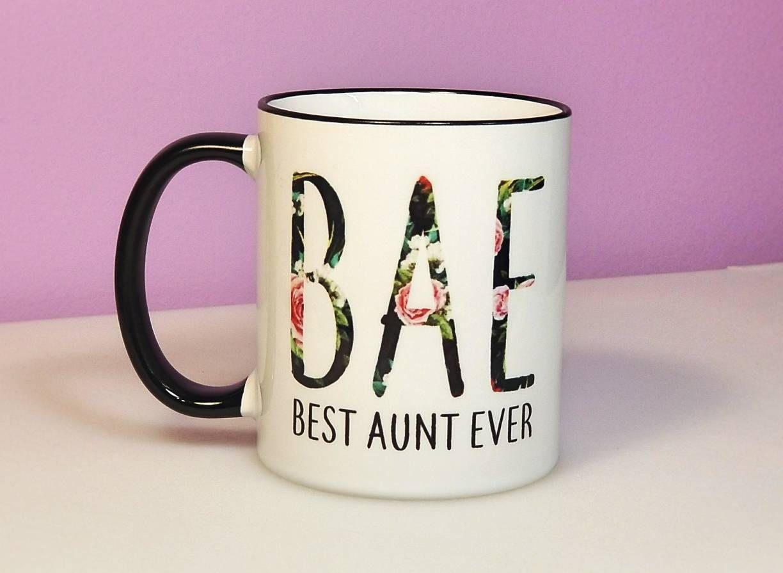 Best aunt ever mug bae mug new aunt gift aunt gift