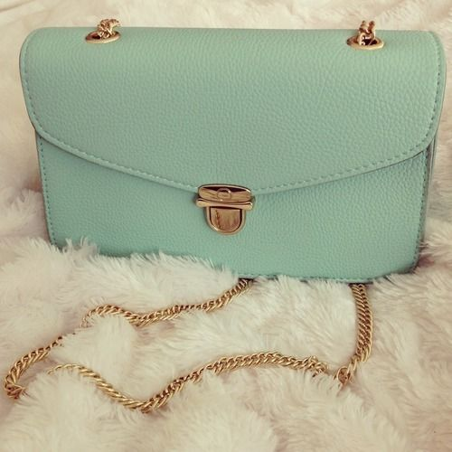 mintgreen & #golden handbag | Handbag Addiction | Pinterest | Stay ...