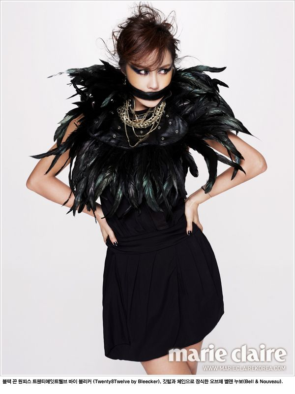 Uhm Jung Hwa in Marie Claire Korea January 2012