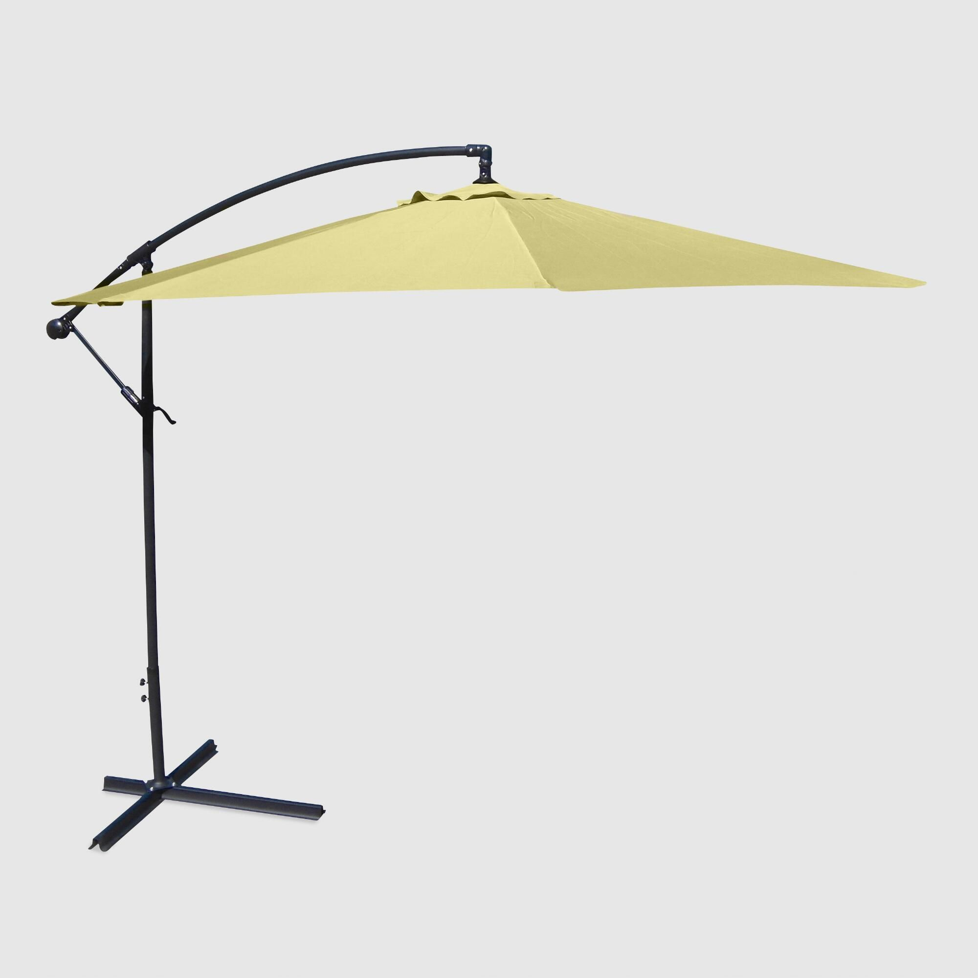 Canary Yellow 10 Ft Cantilever Outdoor Patio Umbrella