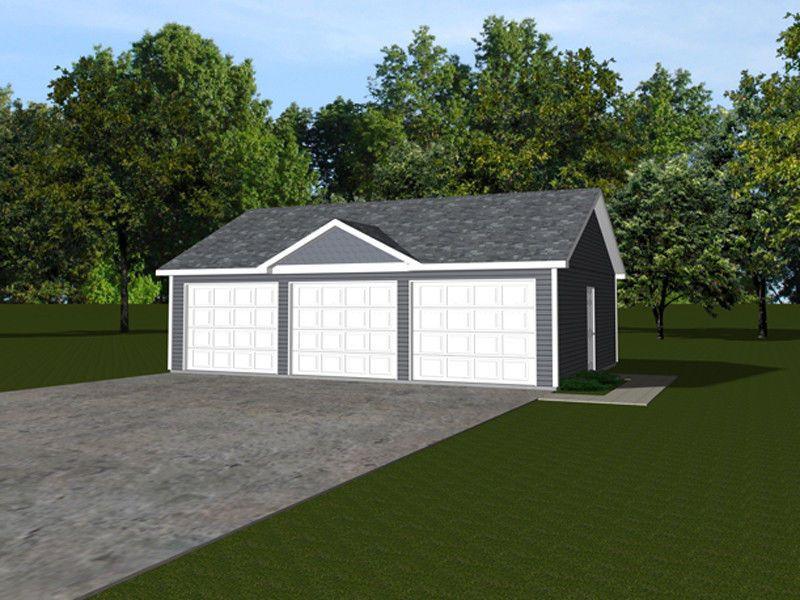 3 Car Garage Plans 32x24 768 Sf 1319 Garage Plans 3 Car Garage Plans Garage Plan
