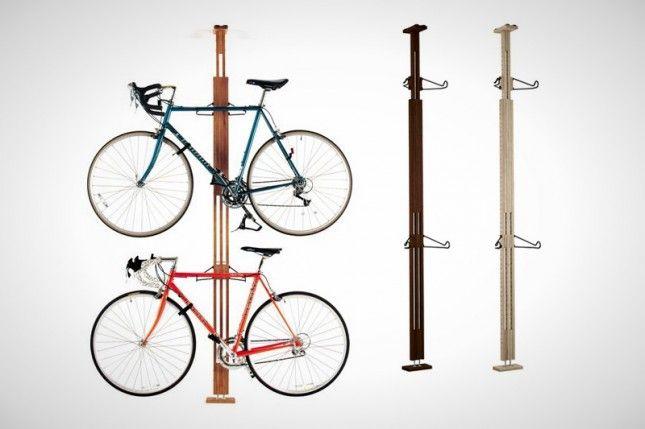 15 Creative Ways To Hang Up Your Bike Hanging Bike Rack Bicycle Bicycle Rack