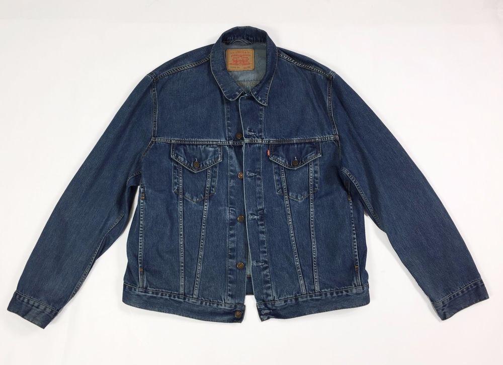 Usato Xxl Jeans 04 Levis Jacket 70550 Blu Giacca Vintage Giubbino gB7Sq6x7w