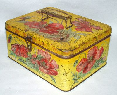Vintage Wooden Tea Caddy Box Lidded Footed Trinket Tea Storage Container