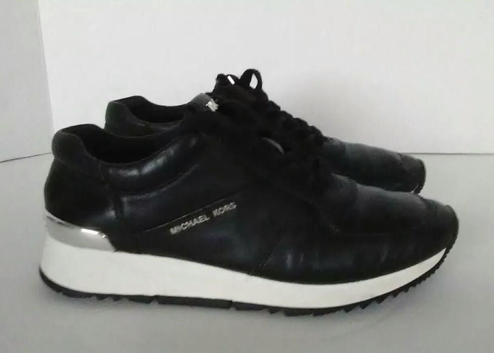 2cd60bc1ffeed ebay link) Michael Kors MK Women's Allie Trainer Leather Sneakers ...