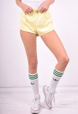 90's Womens Shorts Yellow Adidas Vintage W26 q4z1wwTa