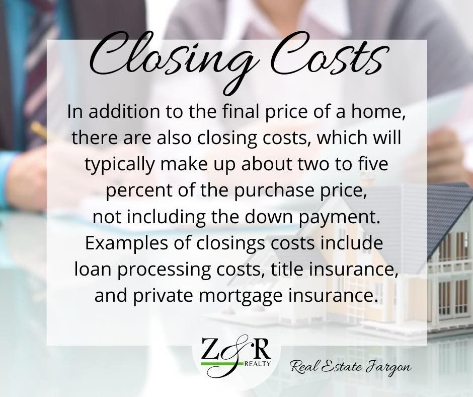 ️🏠👉Today's Real Estate Jargon Definition Closing Costs
