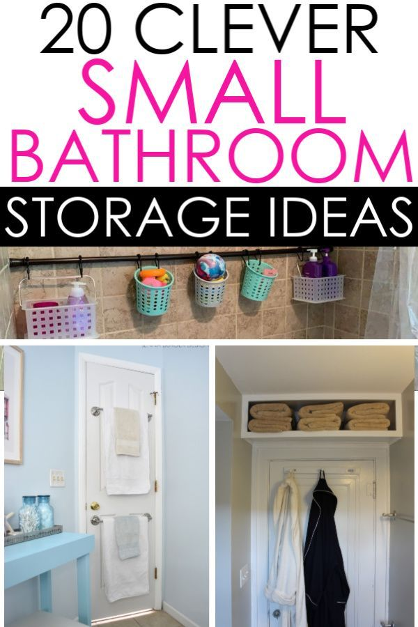Photo of 20 Small Bathroom Storage Ideas That Will Crush Your Clutter