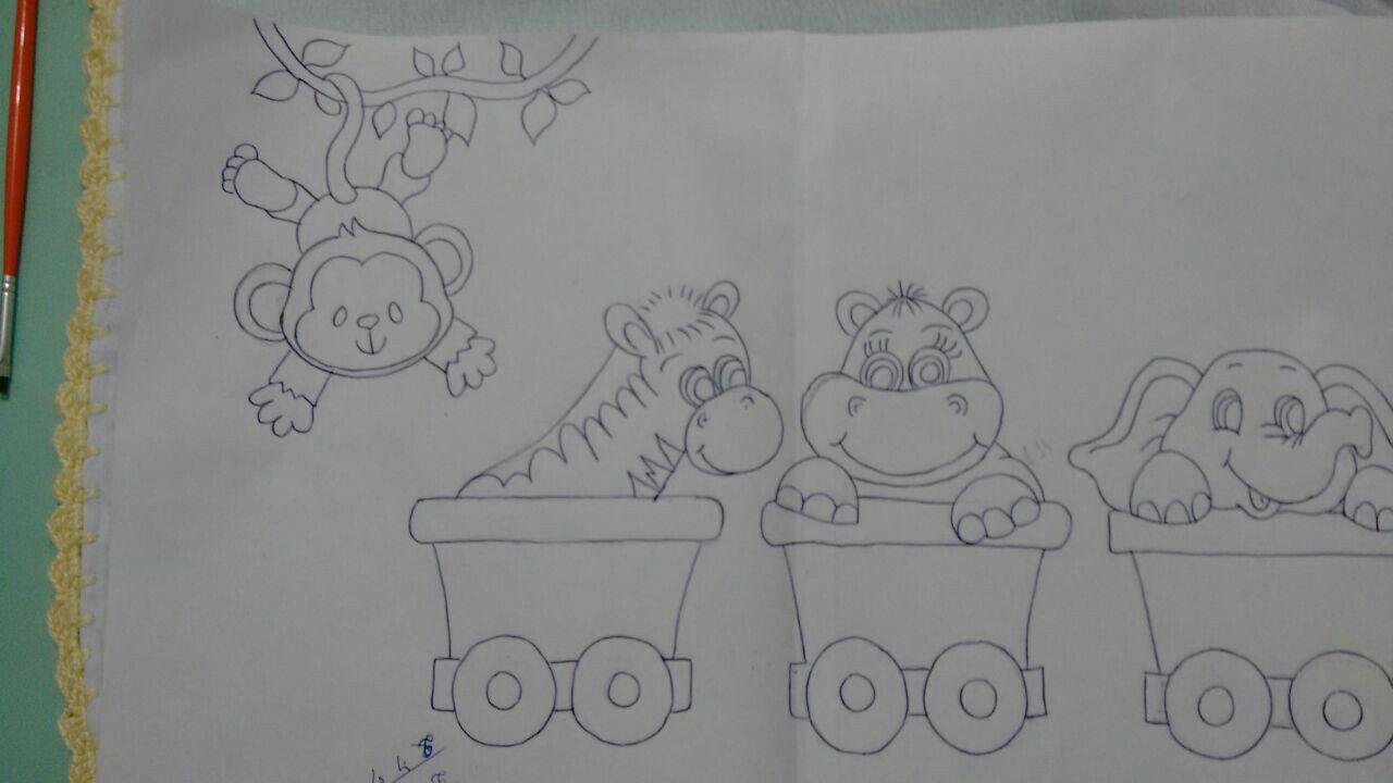 Trenzinho Desenhos Infantins Riscos Para Pintura Pintura Bebe