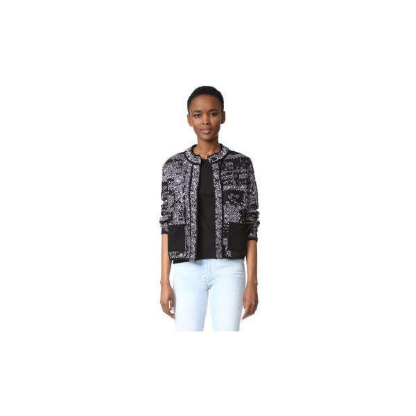 M Missoni Metallic Jacket ($795) ❤ liked on Polyvore featuring outerwear, jackets, m missoni, long sleeve jacket, drapey jacket, metallic jacket and drape jacket