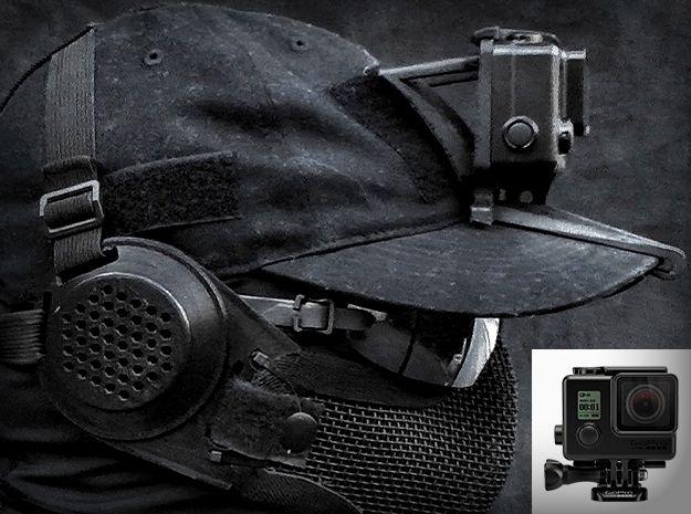 Hat Mount Gopro Hero 3 4 Slim Case Gopro Hero By Brainexploder On Shapeways Gopro Hero Gopro Hero 3 Gopro