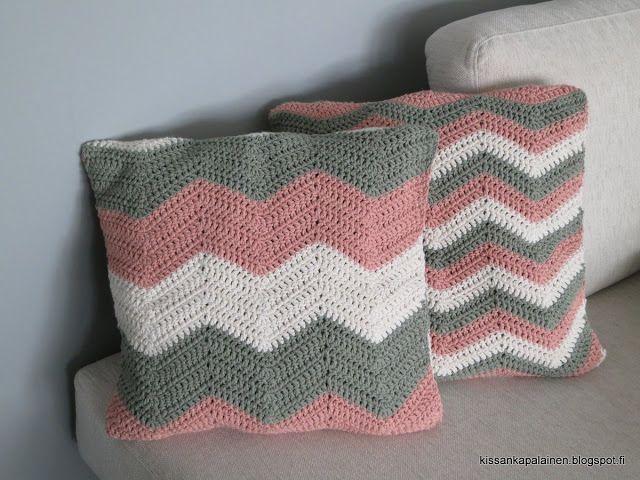Kissankäpälä: Siksak-tyynynpäälliset, zigzag pillow covers