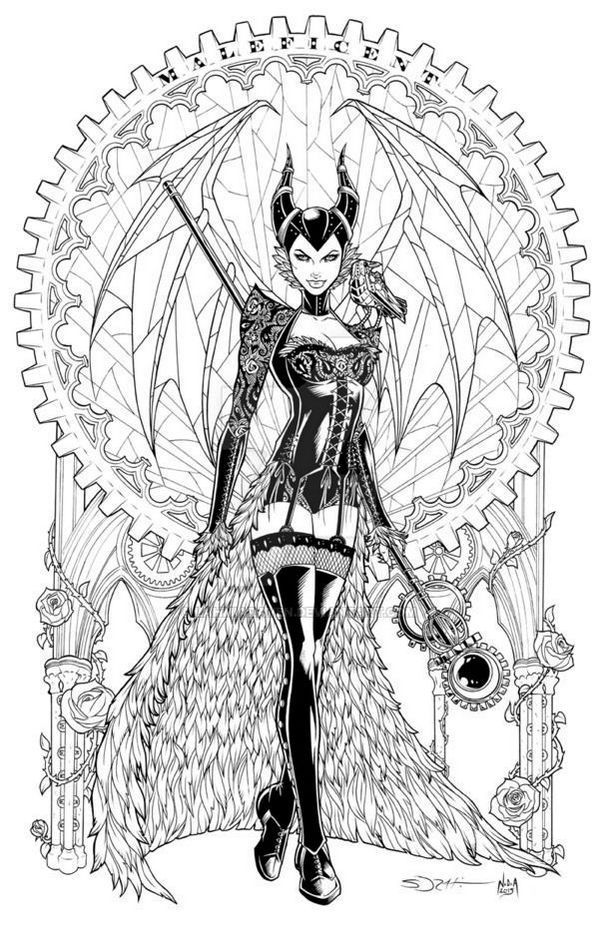 Maleficent Adult Coloring Pages #adultcoloringpages