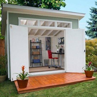10u0027 X 7.5u0027 Modern Outdoor Back Yard Wood Storage Lawn Mower Tool Shed  Building
