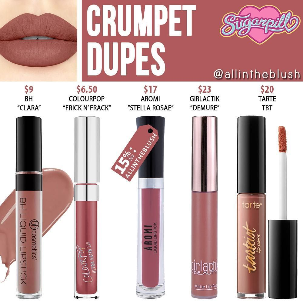 CRUMPET DUPES💕 from SugarPill Cosmetics Maquillaje de