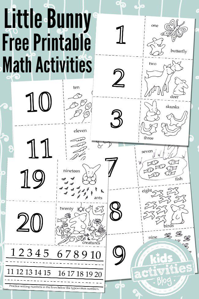 3 ADORABLE MATH ACTIVITIES FROM 1 FREE KIDS PRINTABLE | Math ...