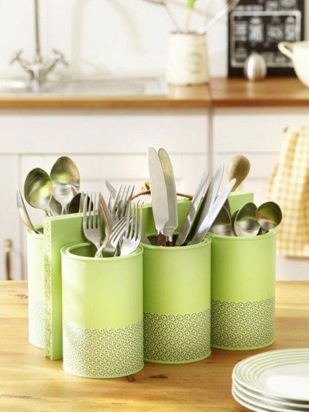 DIY-Tipp Besteckaufbewahrung selber basteln Upcycling, Diys and - k che aus alt mach neu