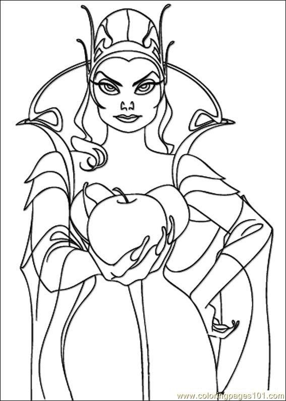 Image Result For Evil Queen Coloring Pages Coloring Pages