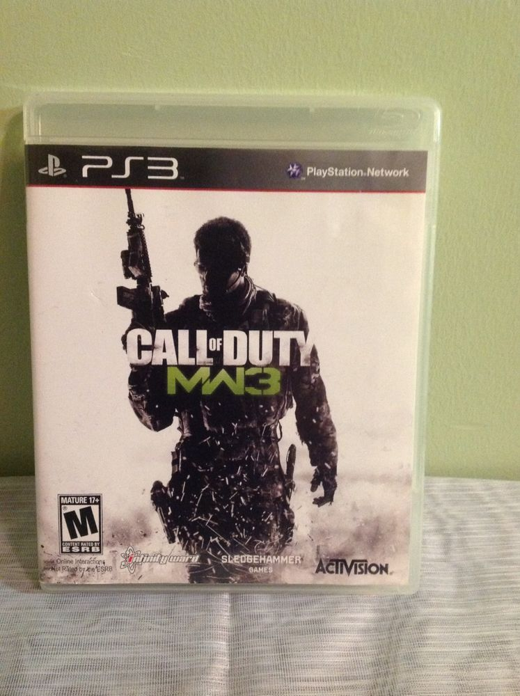 Sony Play Station 3 Call Of Duty Modern Warfare Mw3 2011 M 17 Call Of Duty Modern Warfare Playstation